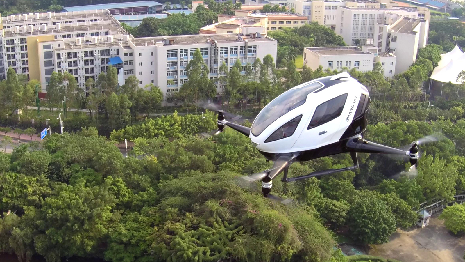 Flight Tests of EHang 184 AAV at Guangzhou in 2017