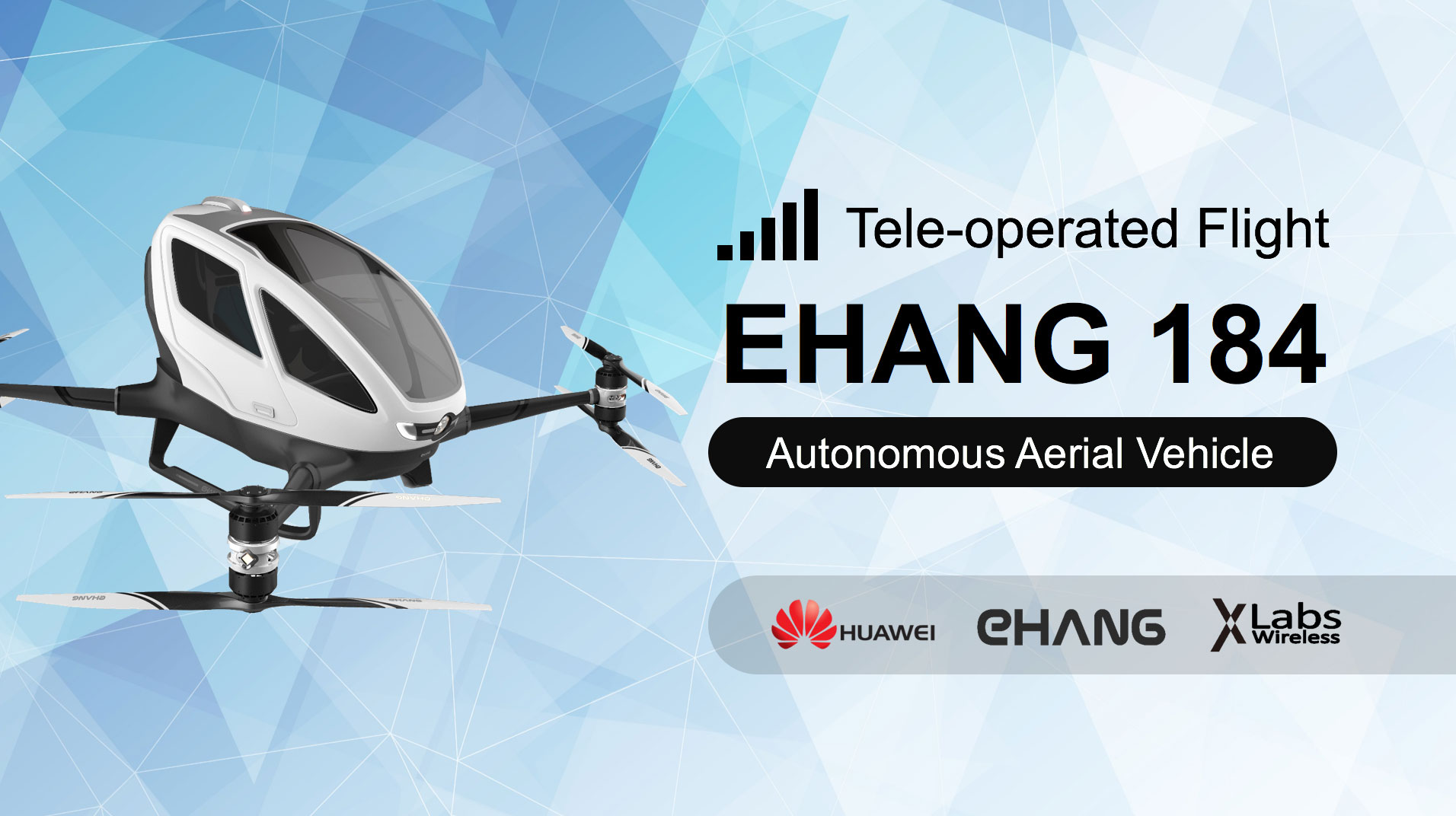 EHANG 184 Tele-operated Flight Live