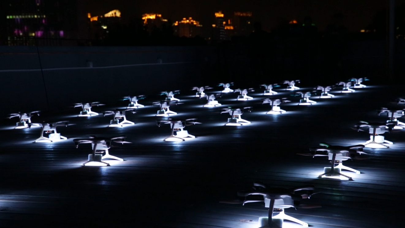 Drone Light Show Celebrating the Premiere of the Magnificent Scoundrels (Movie) in Haixinsha
