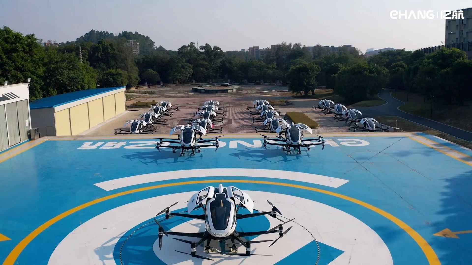 EHang Delivers Batch of EHang 216 Passenger-Grade Autonomous Aerial Vehicles