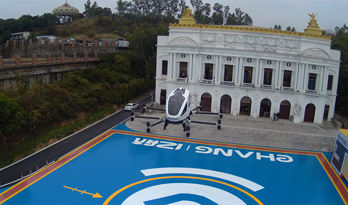 two EHANG executives took manned flight on EHANG 2-seat AAV