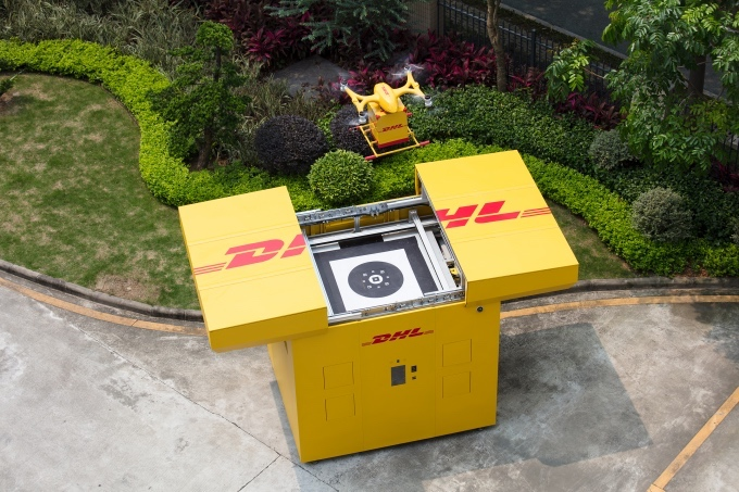 Cooperated with DHL-Sinotrans, EHang conducted Smart Drone Delivery Solution for documents express in Guangdong Province, China