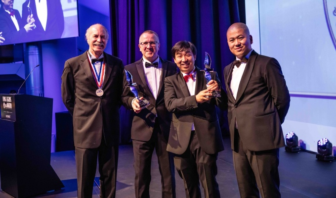 Huazhi Hu (2nd from right), the founder, chairman, and CEO of EHang, has been recognized as the Living Legends of Aviation Awards Europe_Fotor.jpg
